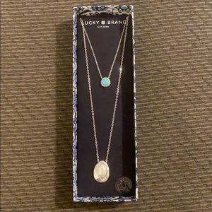 NWT Lucky Brand Double Necklace